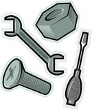 Vector objects for screw Stock Photo