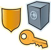 Vector objects for security Royalty Free Stock Image