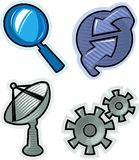 Vector objects for website Royalty Free Stock Images
