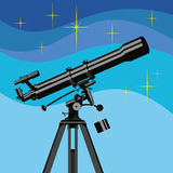 Vector observing telescope. Stock Images