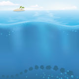 Vector Ocean background with copyspace Stock Photography