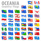 Vector Oceanian National Flag Set Stock Image