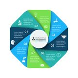 Vector octagon element for infographic. Business concept with 8 options. Vector octagon element for infographic. Template for cycle diagram, graph, presentation vector illustration