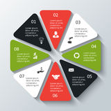 Vector octagon infographic. Template for cycle diagram, graph, presentation and chart. Business concept with 8 options, parts, steps or processes. Data vector illustration