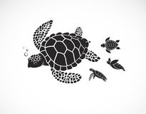 Free Vector Of Mother Turtle And Baby Turtle On A White Background. Reptile. Animals. Easy Editable Layered Vector Illustration Royalty Free Stock Image - 176753186