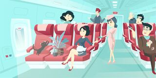 Free Vector Of Various Passengers Inside Airplane Royalty Free Stock Photo - 178621325