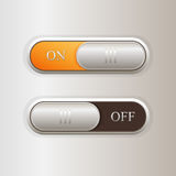 Vector on off buttons. Royalty Free Stock Images