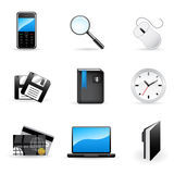 Vector office and business icons set Royalty Free Stock Photography