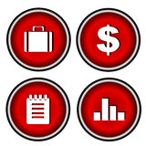 Vector office and business icons set. Vector stock Royalty Free Stock Image