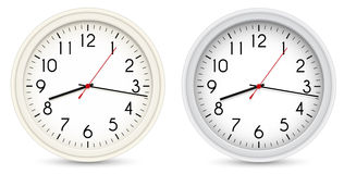 Vector Office Clocks Royalty Free Stock Image
