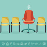 Vector office concept - office chairs Royalty Free Stock Photography