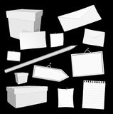 Vector office elements. Set of  white blank office elements Stock Images