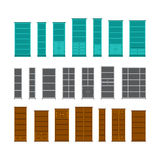 Vector office furniture set in flat style isolated on white Stock Photo