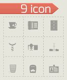 Vector office icon set Royalty Free Stock Photos