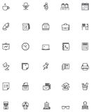 Vector office icon set Stock Photos