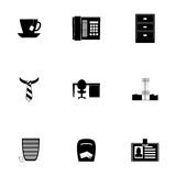 Vector office icon set Royalty Free Stock Photography