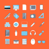 Vector Office Icons 25 Set. Flat Stock Images