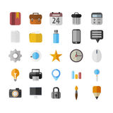 Vector Office Icons 25 Set. Flat Stock Photography