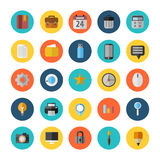 Vector Office Icons 25 Set. Flat Royalty Free Stock Photo