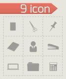 Vector office icons set Stock Photos