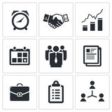 Vector office icons set. Vector office icon collection on a white background Stock Photos