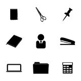 Vector office icons set Royalty Free Stock Photo