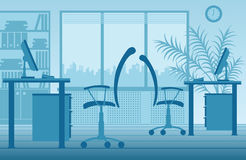Vector office interior stock illustration