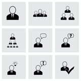 Vector office people icon set Stock Photos