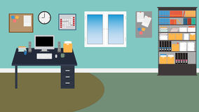 Vector Office room. in EPS 10. Vector Office room in EPS 10 Royalty Free Stock Photography