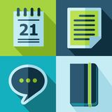 Vector office set icons. Vector office set flat color icons. Eps10 Stock Photo