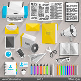 Vector office style. set 3 Royalty Free Stock Images