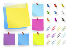 Vector of Office Supplies Isolated on White Royalty Free Stock Photo