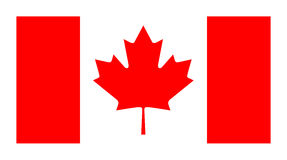 Vector official flag of Canada. Isolated Stock Photos