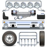 Vector Offroad Car Spares Stock Photos