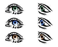 Vector ogen Stock Afbeelding