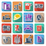 Vector Oil Industry Flat Icons. Isolated on white background vector illustration