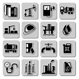 Vector oil industry icons Royalty Free Stock Images