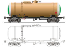 Vector Oil tanker car. Hi-detail rail oil/gasoline tanker car. Isolated on white background [for branding] Available EPS-8 format Royalty Free Stock Photography