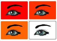 Vector - ojos Fotografía de archivo libre de regalías
