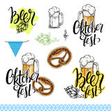 Vector Oktoberfest collection. Stock Images