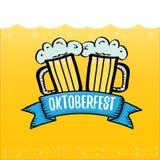 Vector oktoberfest vector label on orange beer. Background. octoberfest vector graphic poster or banner design template Royalty Free Stock Images