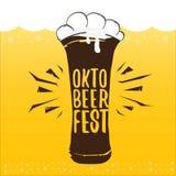 Vector oktoberfest vector label on orange beer. Background. octoberfest vector graphic poster or banner design template Stock Photos