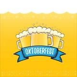 Vector oktoberfest vector label on orange beer. Background. octoberfest vector graphic poster or banner design template Stock Image