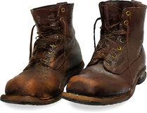 Vector old boots Stock Photography