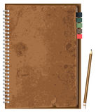 Vector old brown paper notebook Stock Images