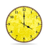 Vector old clock face.  Vintage clock Stock Photo