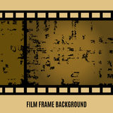 Vector Old film, movie, filmstrip banner. Old film, movie, filmstrip banner for your design. Editable grunge film frame background with space for your text or Royalty Free Stock Photo