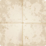 Vector Old folded paper. A very high detailed Full vector design for a folded old paper - parchment Stock Images