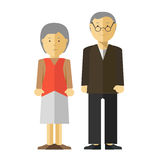Vector old man and woman. Stock Photos