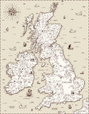 Vector old map, Great Britain Stock Photo